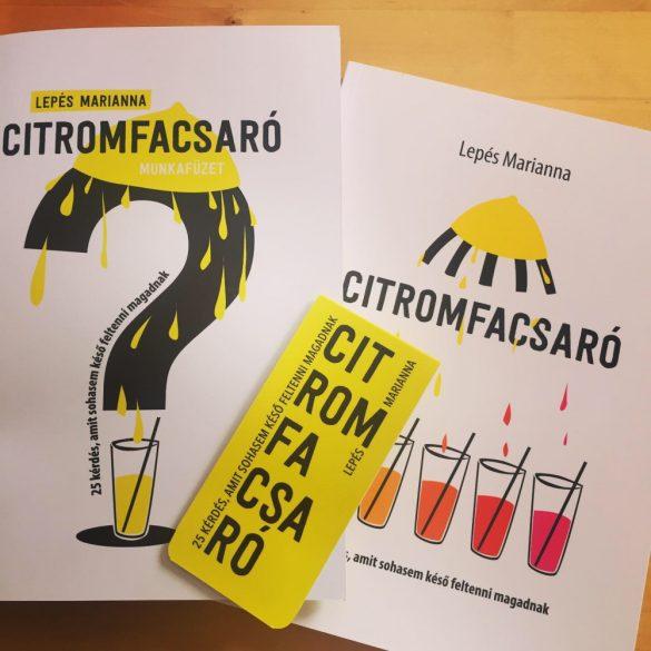 Lepés Marianna - Citromfacsaró könyv + Munkafüzet!